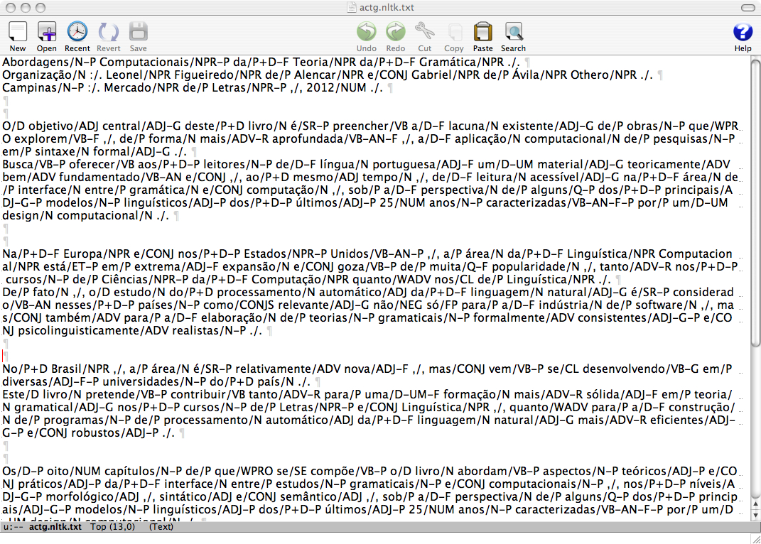 View of annotated file in the Aquamcs text editor